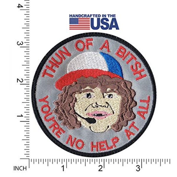 Tactical Patch Works Airsoft Morale Patch 2 Dustin Son Thun Of A Bitsh Stranger Things Inspired Art Patch
