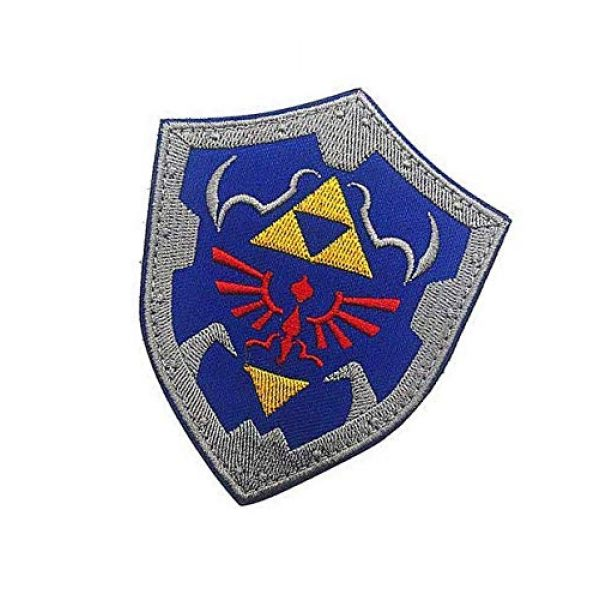 Embroidery Patch Airsoft Morale Patch 3 The Legend of Zelda Link Shield Military Hook Loop Tactics Morale Embroidered Patch