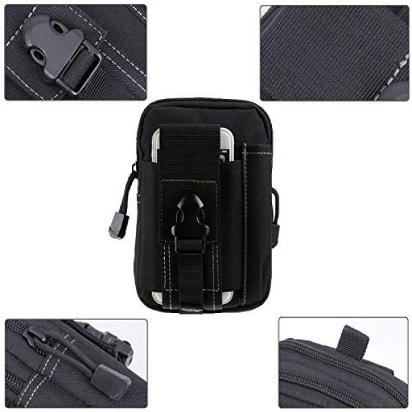 AOCK Tactical Pouch 3 AOCK Multi-Purpose Poly Tool Holder EDC Pouch Camo Bag Military 1000D Nylon Utility Tactical Waist Pack Camping Hiking Pouch