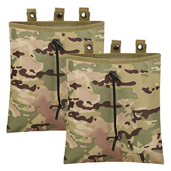 ATBP Tactical Pouch 1 ATBP Military 6 Mags Dump Pouch Tactical Molle Ammo Holder Utility Tool Belt Pouch Bag for Paintball Shooting Hunting Game Bag Pack