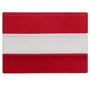 EmbTao Airsoft Morale Patch 1 Austria Flag Patch Embroidered Applique Iron On Sew On Austrian National Emblem