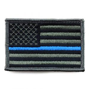 US Patch Airsoft Morale Patch 1 USA American Flag Embroidered Iron On Patch One Size