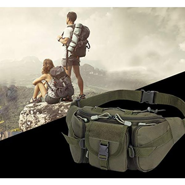 Aoutacc Tactical Pouch 3 Tactical Fanny Pack Military Waist Bag Pack Sling Bag Range Bag Utility EDC Hip Bag with Adjustable Strap for Outdoor Sports Jogging Walking Hiking Cycling