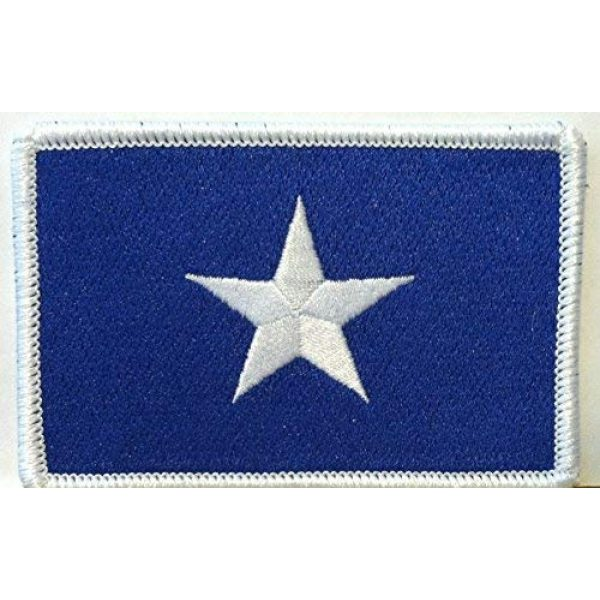 Fast Service Designs Airsoft Morale Patch 1 Bonnie Blue Flag Patch Texas Star Southern Patch with Hook & Loop Patriotic Morale USA Shoulder Emblem White Border Version #37