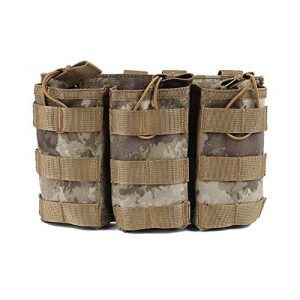 HFDA Tactical Pouch 1 HFDA M4 M16 AR15 Magazine Pouch - Open Top Mag Holder - Triple Airsoft MOLLE Mag Pouch