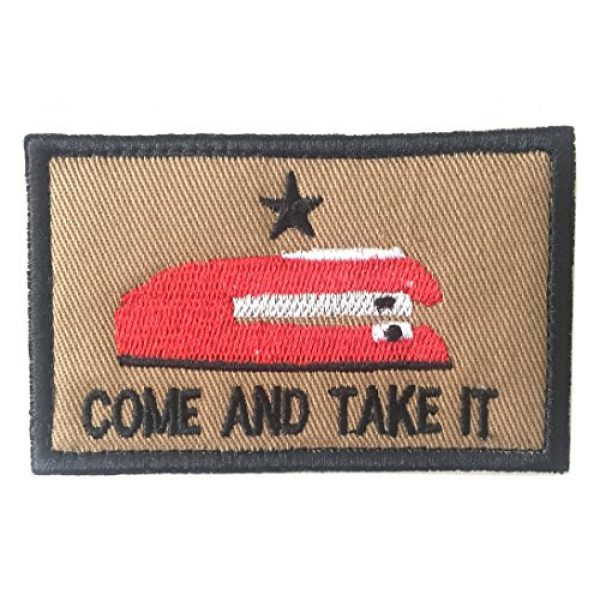 Antrix Airsoft Morale Patch 2 Antrix 5 Pack Mix Color Tactical Come and Take It Patches Texas Revolution Military Morale Patches