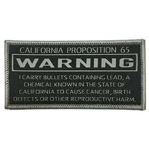 """F-Bomb Morale Gear Airsoft Morale Patch 1 California Prop 65 Causes Cancer"""" Funny Warning for Gun Lovers - Embroidered Morale Patch"""