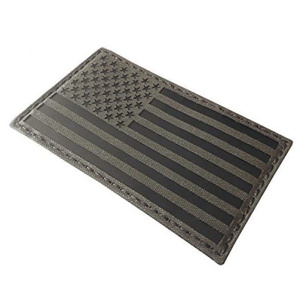 Tactical Freaky Airsoft Morale Patch 4 Big 3x5 Ranger Green Infrared IR USA American Flag IFF Tactical Morale Hook&Loop Patch