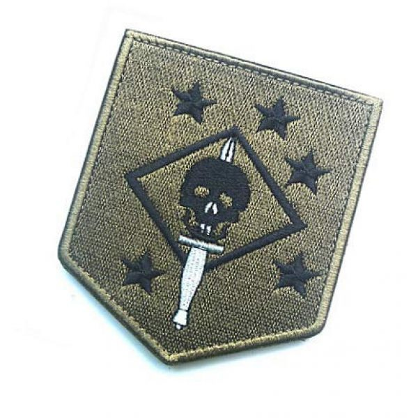 Embroidery Patch Airsoft Morale Patch 3 USMC Ghost Force Recon SP OPS Military Hook Loop Tactics Morale Embroidered Patch Marsoc Raiders Skull Patch (color2)