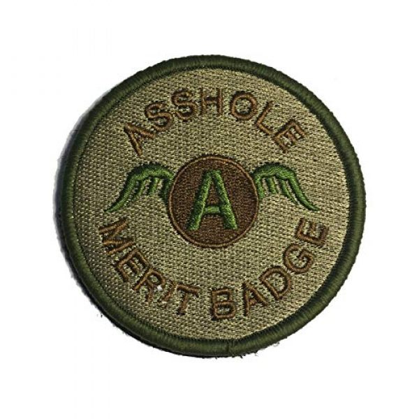 """Empire Tactical USA Airsoft Morale Patch 1 3"""" OCP Multicam Asshole Merit Badge Tactical (Hook/Loop) Morale Patch"""