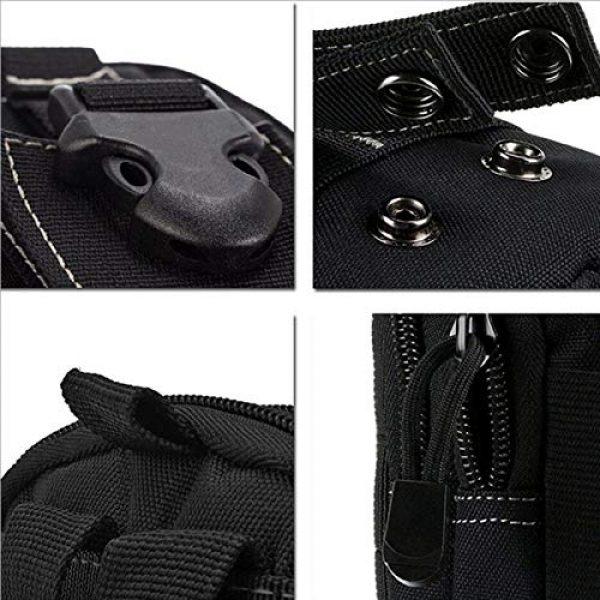 Bonlting Tactical Pouch 2 Outdoor Waist Bag Portable Waterproof Compact Cell Phone Carrying Case Holster Belt Waist Pouch with Zipper(Black)