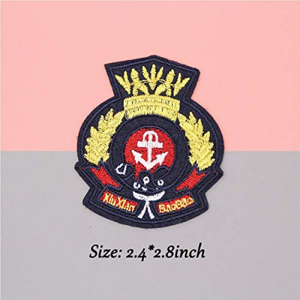 Hary Airsoft Morale Patch 5 33Pcs Tactical Embroidered Patches Gold Color Morale Iron on Patches Military Sew on Patch for Decorating Repairing Jackets Shoes Bags Vests Backpacks Jeans Sleeve Caps Clothes Funny Badge Set