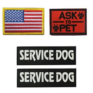 Homiego Airsoft Morale Patch 1 Homiego Military Morale Service Dog Patch for Pet Tactical K9 Service Harness Vest Pack of 4 (1)