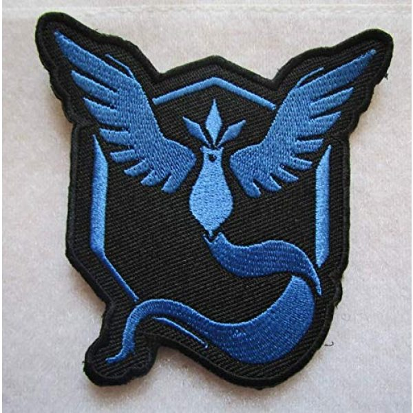 Embroidered Patch Airsoft Morale Patch 1 Articuno Team Mystic 3D Tactical Patch Military Embroidered Morale Tags Badge Embroidered Patch DIY Applique Shoulder Patch Embroidery Gift Patch