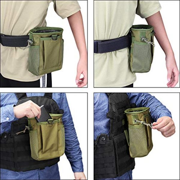 AMYIPO Tactical Pouch 7 AMYIPO Tactical Molle Drawstring Magazine Dump Pouch, Military Adjustable Belt Utility Hip Holster Bag Outdoor Mag Pouch