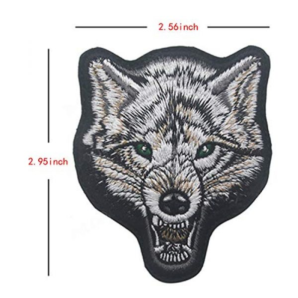 LanXin Airsoft Morale Patch 4 Tiger Bear Wolf Embroidery Patch Animal Military Morale Patches Tactical Combat Emblem Applique Embroidered Badges Hook and Loop Fasteners Backing Patches