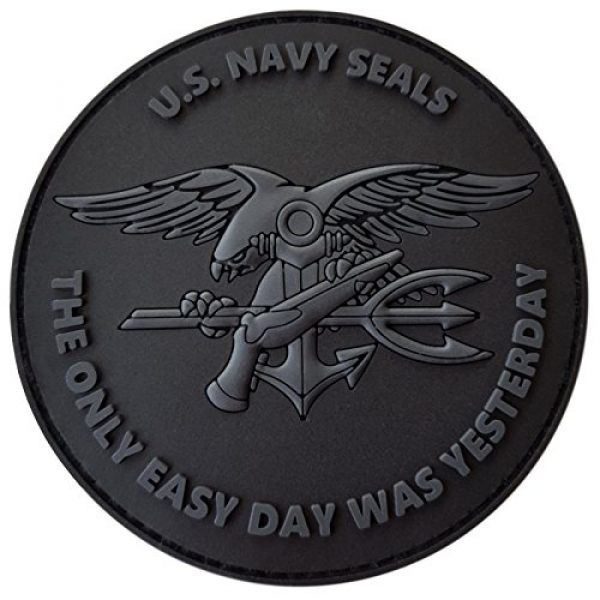 LEGEEON Airsoft Morale Patch 1 LEGEEON All Black ACU US Navy Seals The Only Easy Day was Yesterday DEVGRU Subdued Morale PVC Fastener Patch