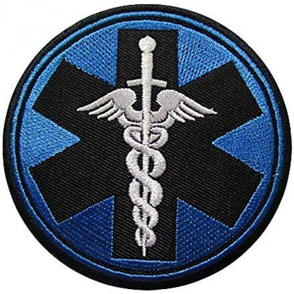 Embroidery Patch Airsoft Morale Patch 1 Medic Corpsman Caduceus Military Hook Loop Tactics Morale Embroidered Patch