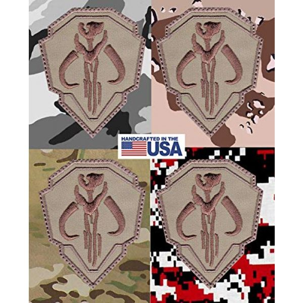 Patch Brigade Airsoft Morale Patch 4 Mandalorian Mythosaur Skull Crest Shield Patch