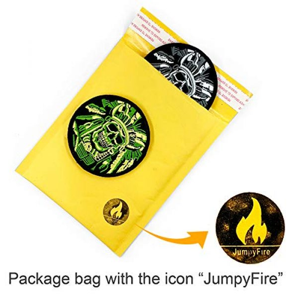 JumpyFire Airsoft Morale Patch 7 JumpyFire Tactical Skull Velcro Patch, 2 PCS Embroidered Military Morale Patches for Backpack Hat Jacket Jeans Uniform