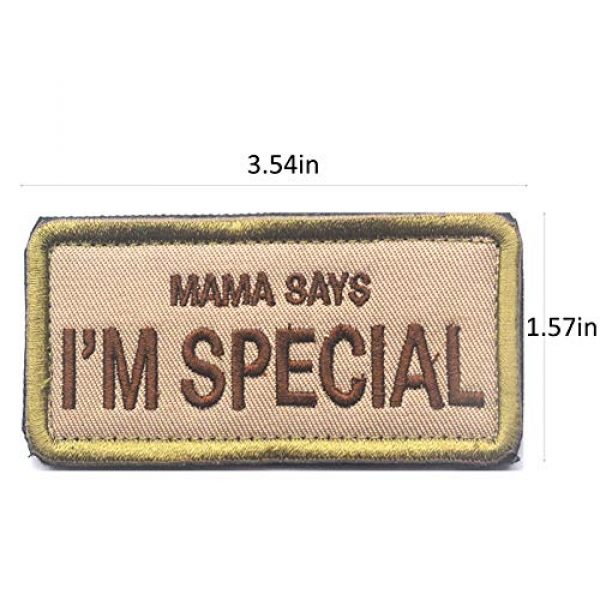 CREATOR Airsoft Morale Patch 2 Mama Says I'm Special Tactical Patch Military Embroidered Hook & Loop Patch for Men, Children and Pets