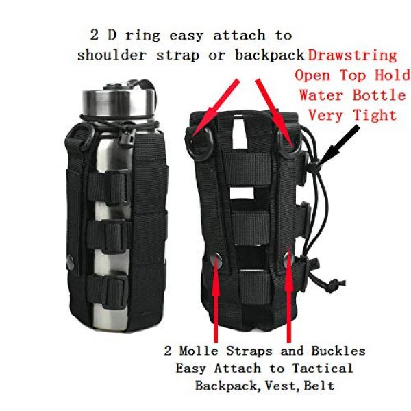 ATBP Tactical Pouch 4 ATBP Tactical Water Bottle Pouch Holder Military Hydration Carrier Waist Fanny Pack for Molle Backpack Vest Bike Bottle Cage Bag