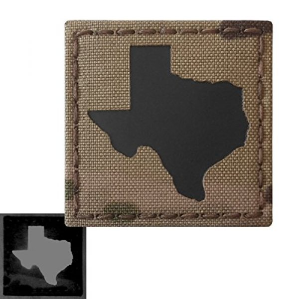 Tactical Freaky Airsoft Morale Patch 3 Texas Multicam Infrared IR 2x2 Tactical Morale Hook&Loop Patch