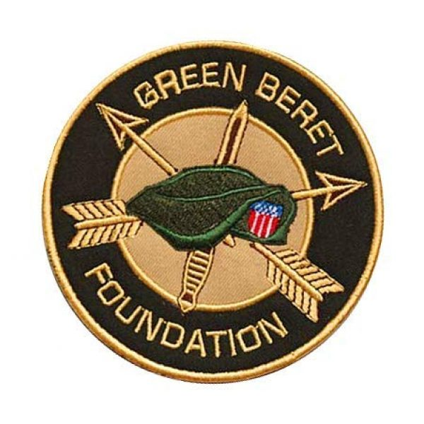 Embroidery Patch Airsoft Morale Patch 3 Green Berets Military Hook Loop Tactics Morale Embroidered Patch
