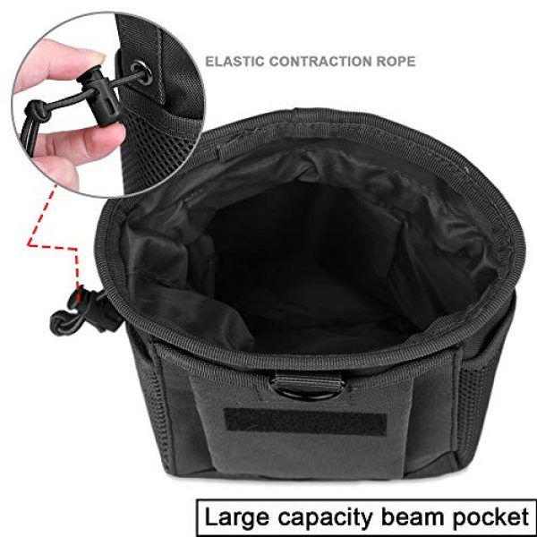 AMYIPO Tactical Pouch 3 AMYIPO Tactical Hip Holster Bag Outdoor Pouch Molle Drawstring Magazine Dump Pouch, Military Adjustable Belt Utility Pouch