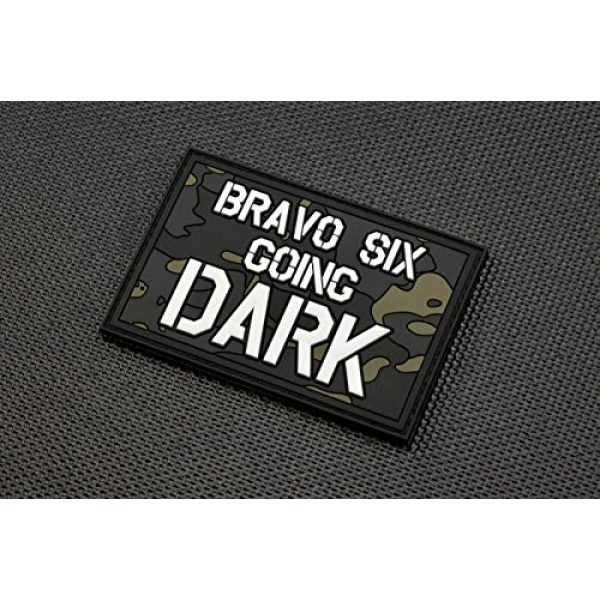 BritKitUSA Airsoft Morale Patch 1 Bravo Six Going Dark PVC Morale Patch GITD Multicam Call of Duty Modern Warfare