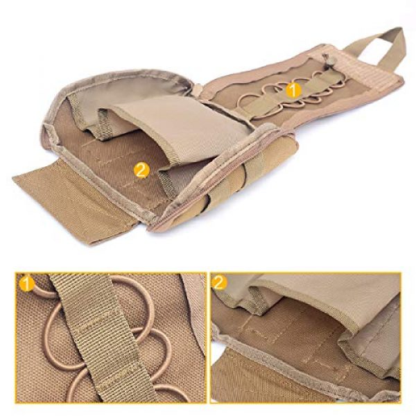 Azarxis Tactical Pouch 4 Azarxis Tactical MOLLE Rip-Away EMT Medical First Aid IFAK Utility Pouch Military Emergency EDC Trauma Bags Outdoor Survival Kit Suit