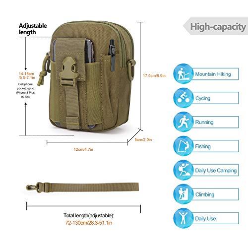 Mardingtop Tactical Backpack 3 Mardingtop Bundle Items: 25L Molle Hiking Tactical Backpack Khaki