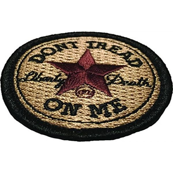F-Bomb Morale Gear Airsoft Morale Patch 2 Don't Tread On Me - All Star - Embroidered Morale Patch - Arid Desert
