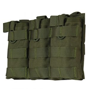 WYNEX Tactical Pouch 1 WYNEX M4 M16 AR-15 Type Magazine Pouch Triple Mag Holder Open-Top Military Airsoft CS Game