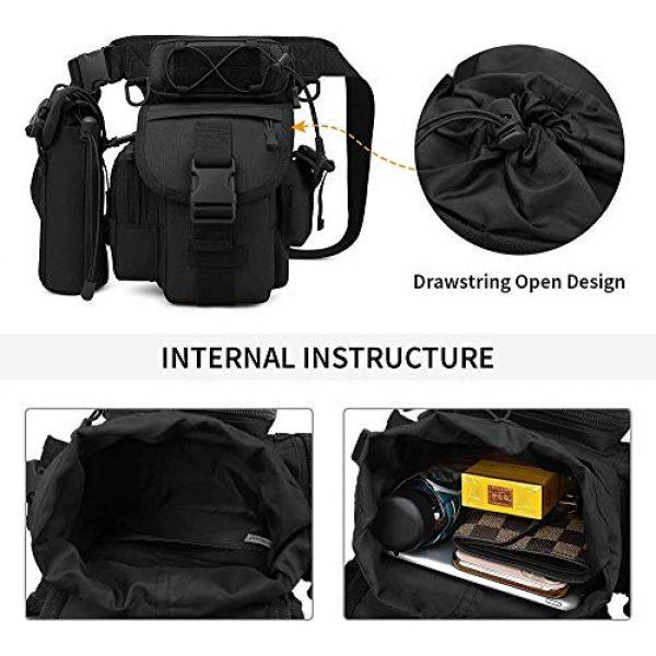 ACOMOO Tactical Pouch 5 ACOMOO Tactical Drop Leg Waist Bag Mens Outdoor Sport Thigh Hip Pack Utility Pouch Black