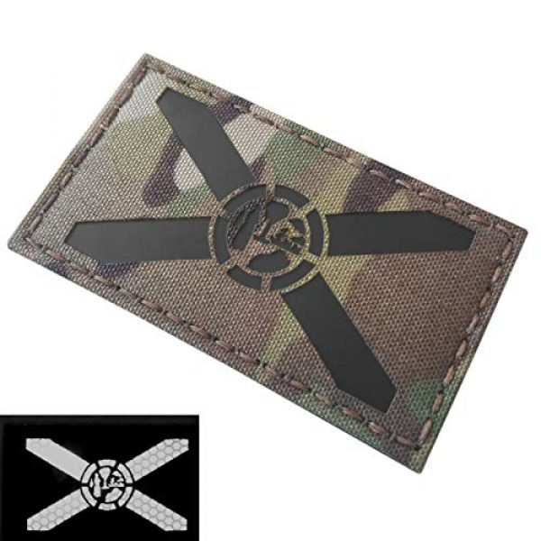 Tactical Freaky Airsoft Morale Patch 3 Multicam IR Florida State Flag 2x3.5 Infrared IFF Tactical Morale Touch Fastener Patch