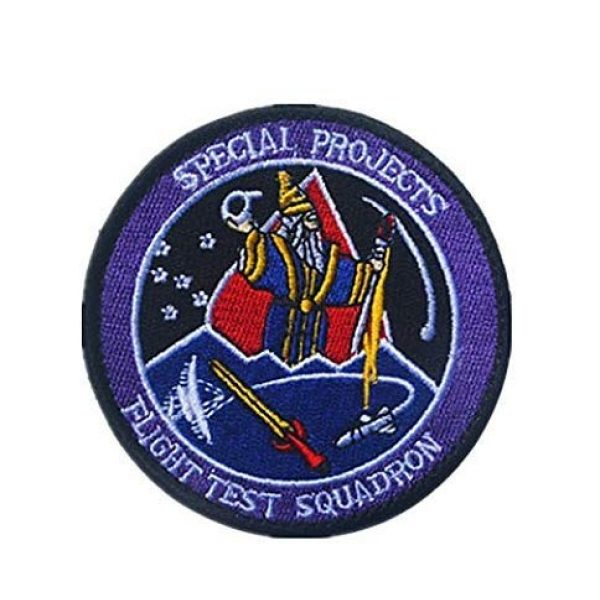 Tactical Embroidery Patch Airsoft Morale Patch 1 Air Force Black Ops Flight Test Squadron Special Projects Area 51 Aviation Embroidery Patch Military Tactical Morale Patch Badges Emblem Applique Hook Patches for Clothes Backpack Accessories