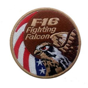 Tactical Embroidery Patch Airsoft Morale Patch 1 F16 Fighter Fighting Falcon Embroidery Patch Military Tactical Morale Patch Badges Emblem Applique Hook Patches for Clothes Backpack Accessories