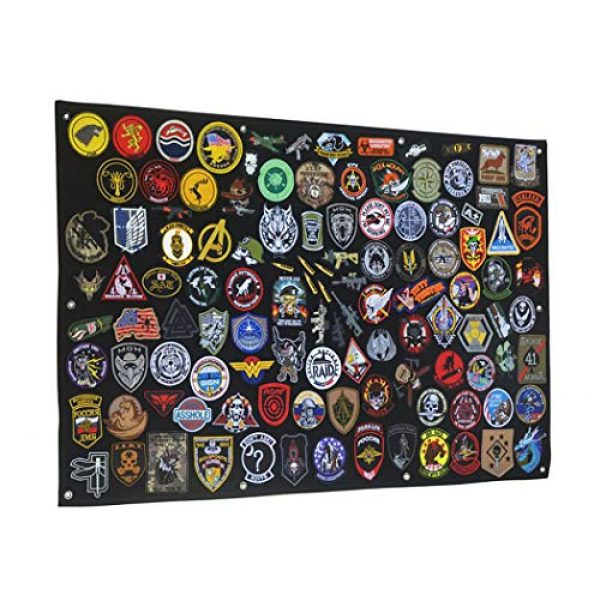 """Aoutacc Airsoft Morale Patch 3 27.5"""" x 42.5"""" Tactical Military Patch Holder Board Hook & Loop Morale Patch Panel Wall(108x70cm)"""