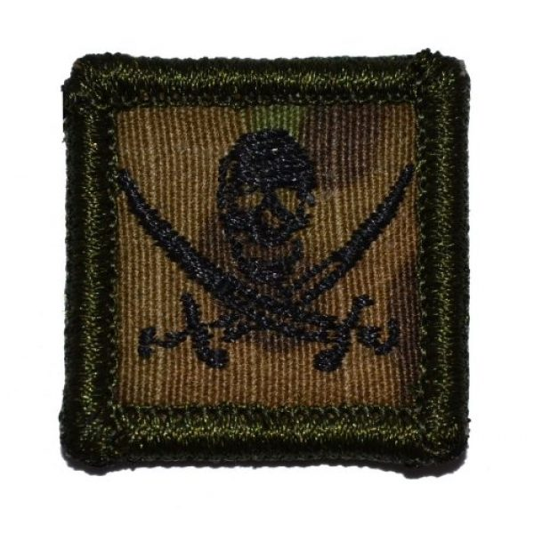 Tactical Gear Junkie Airsoft Morale Patch 1 Pirate Jolly Roger 1x1 inch Patch - Multicam