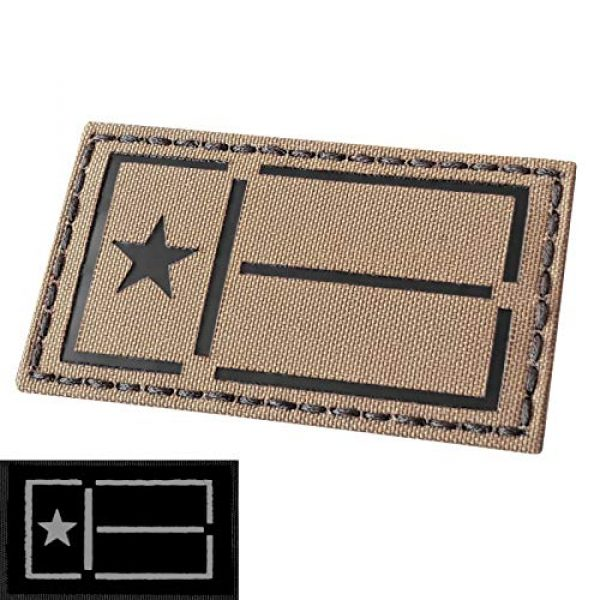 Tactical Freaky Airsoft Morale Patch 1 IR Coyote Tan Texas Lone Star Flag 2x3.5 IFF Tactical Morale Touch Fastener Patch