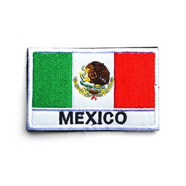 Zhikang68 Airsoft Morale Patch 1 Mexico International Flag Mexican Country Emblem Embroidered Military Tactical Morale Badges Sew On Shoulder Applique for Motorcycle Jackets, Clothes, Backpacks (Style 1)