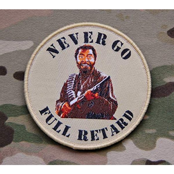 Britkit Airsoft Morale Patch 2 Tactical Hook and Loop Never Go Full Retard Tropic Thunder Morale Patch