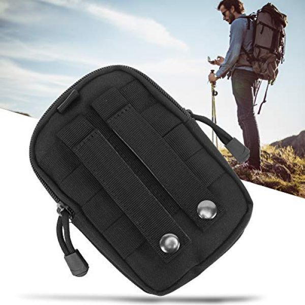 Alomejor Tactical Pouch 7 Alomejor Tactical Waist Bag Portable Multipurpose Military Utility Pouch Gadget Belt Waist Bag Nylon Pocket Pouch for Sports Travel Hiking Running Cycling Camping