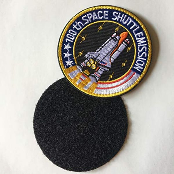 Xunqian Airsoft Morale Patch 5 Bundle 6 Pcs Tactical Flag Patch - Space Fans USA NASA Patch Embroidered Lot Military Embroidered Patches (A-Hook and Loop Fasteners Backing)