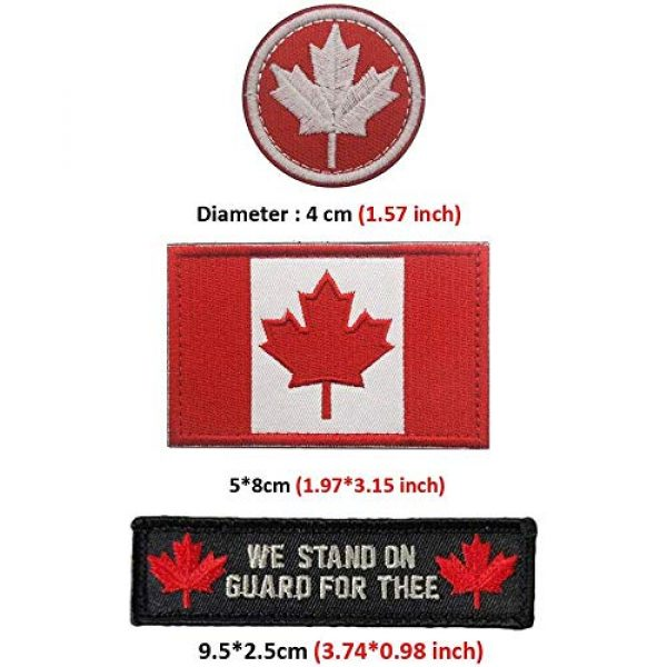 Kseen Airsoft Morale Patch 3 3 Pieces Canada Flag Patch Canadian Tactical Morale National Patches Sew On Military Emblem Embroidered Badge Applique Hook and Loop Shoulder