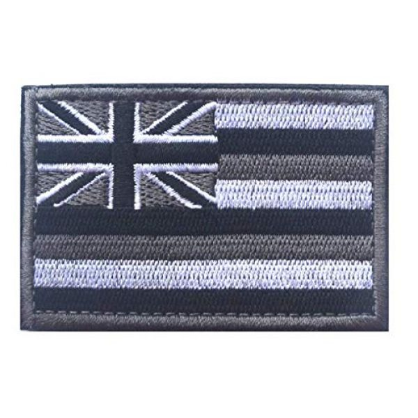 Tactical Embroidery Patch Airsoft Morale Patch 1 State Flag of Hawaii Embroidery Patch Military Tactical Morale Patch Badges Emblem Applique Hook Patches for Clothes Backpack Accessories