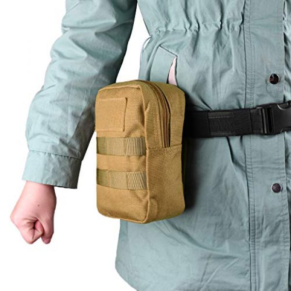 AMYIPO Tactical Pouch 6 AMYIPO Tactical Admin Molle Pouch Multi-Purpose Tool Holder Modular Utility Bag Tools EDC Admin Attachment Pouches