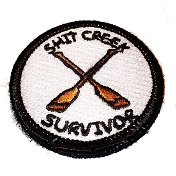 Pantel Tactical Airsoft Morale Patch 1 Shit Creek Survivor Merit Badge Tactical Morale Patch