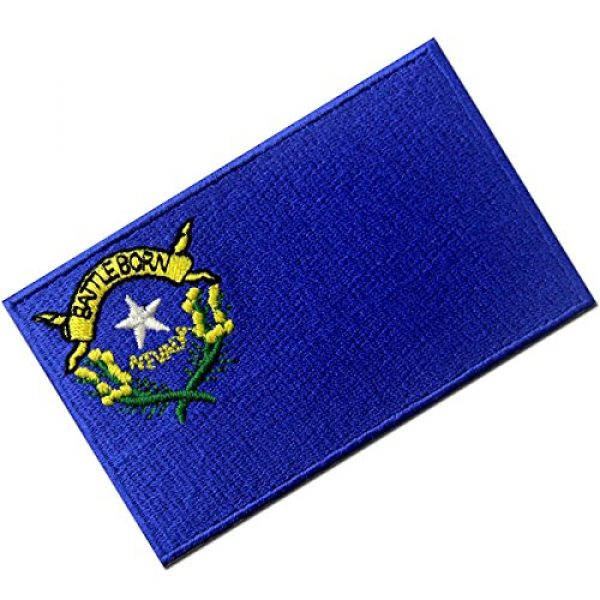 EmbTao Airsoft Morale Patch 3 Nevada State Flag Embroidered Emblem Iron On Sew On NV Patch